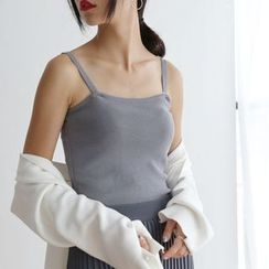 TAILO - Cropped Knit Camisole Top