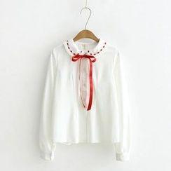 Moricode - 蝴蝶结领衬衫
