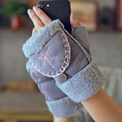 Lose Show - Embroidered Two-Way Gloves