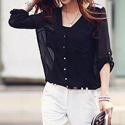 Persephone - Sequined Chiffon Shirt