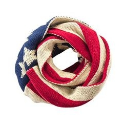 DEARIE - Kids Star Print Knit Scarf