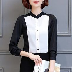Ekim - Panel Chiffon Blouse