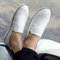 Hipsteria - Faux Leather Slip-Ons