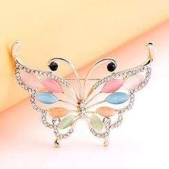 Trend Cool - Jeweled Butterfly Brooch