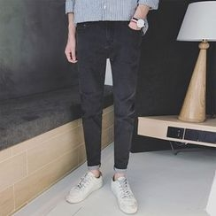 Arthur Look - Embroidered Tapered Jeans
