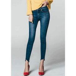 Chlo.D.Manon - Cutout-Hem Washed Skinny Jeans