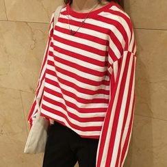 時尚麻豆家 - 條紋套衫