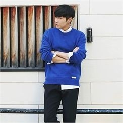 MITOSHOP - Crew-Neck Colored Knit Top