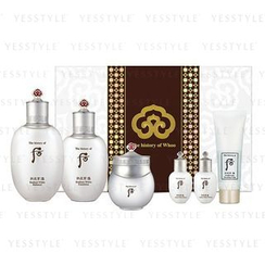 The History of Whoo - Gongjinhyang Seol Whitening Special Set: Balancer (150ml + 20ml) + Emulsion (110ml + 20ml) + Cream 30ml + Cleansing Foam 40ml