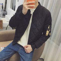 Dubel - 菱格拉鍊夾克