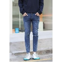 PLAYS - Straight-Cut Washed Jeans