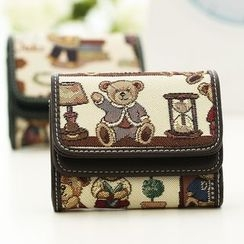 Eustoma - Bear Zip Wallet