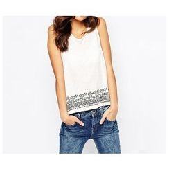 Richcoco - Patterned Tank Top