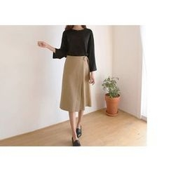 Hello sweety - Wrap-Front Midi Skirt