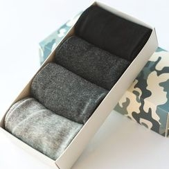 LIFEDIFF - Set of 4: Plain Socks