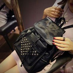 Seok - Studded Faux Leather Backpack