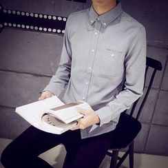 SICRIT - Plain Long-Sleeve Shirt