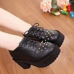 Mancienne - Studded Platform Pumps