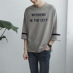 Soulcity - 3/4-Sleeve Lettering T-Shirt