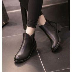 Monde - Genuine Leather Chiffon Blouse