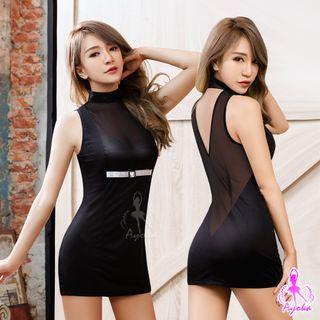 Ayoka - Stand-Collar Sleeveless Dress
