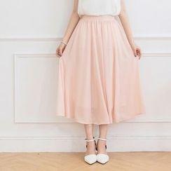 Tokyo Fashion - Midi Chiffon Skirt