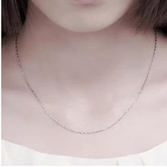 Nanazi Jewelry - 925 Silver Short Necklace (0.8mm)