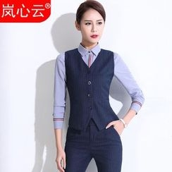 Skyheart - Pinstriped Vest / Set: Vest + Dress Pants / Skirt / + Striped Dress Shirt