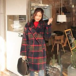 Cherryville - Double-Breasted Check Coat