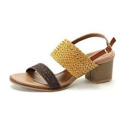 MODELSIS - Genuine Sheepskin Braided-Strap Sandals