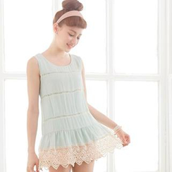 Tokyo Fashion - Sleeveless Crochet-Trim Top
