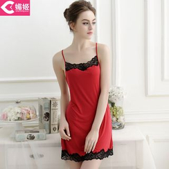 Charming Lover - Lace-Trim Nightgown