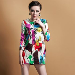 Ozipan - 3/4-Sleeve Printed Tunic