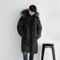Seoul Homme - Faux-Fur Hooded Duck-Down Jacket