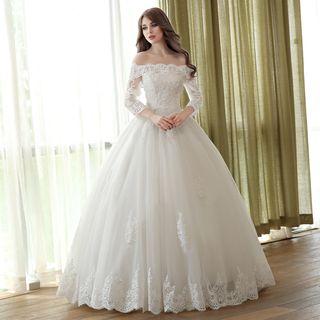 OTONO - 3/4-Sleeve Ball Gown Wedding Dress
