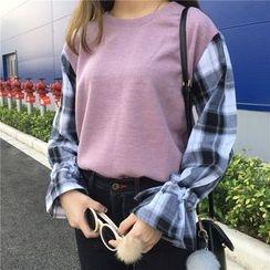 Bloombloom - Ruffle Panel Knit Top