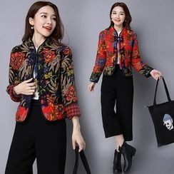 Diosa - Quilted Floral Jacket