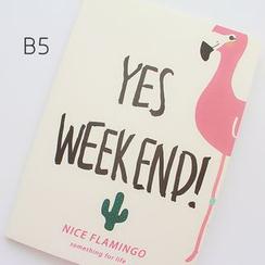 CatShow - Flamingo Print Notebook (S/ M)