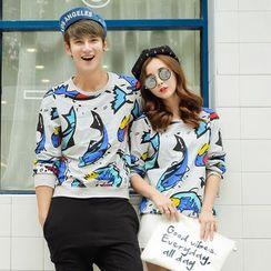 Evolu Fashion - Coupe Matching Printed Sweatshirt