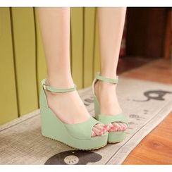 Pastel Pairs - Ankle Strap Wedge Sandals