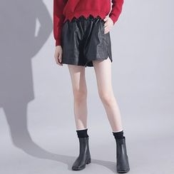 Sonne - Faux-Leather Shorts