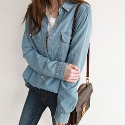 NIPONJJUYA - Dual-Pocket Denim Shirt