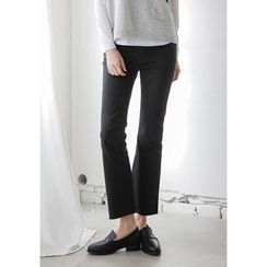 GOROKE - Fray-Hem Boot-Cut Pants