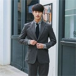 MITOSHOP - Notched-Lapel Single-Breasted Jacket