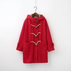 Chicsense - Hooded Toggle Coat
