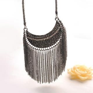 Fit-to-Kill - Vintage Tassel Moon Necklace
