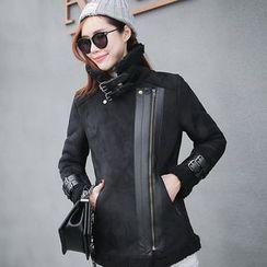 Machiga - Notched-Lapel Buckled Zip Jacket