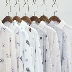 Oh My Love - Long-Sleeve Printed Shirt