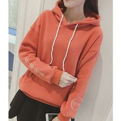 Oaksa - Embroidered Thick Hoodie
