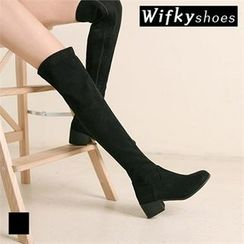 Wifky - Chunky-Heel Over-the-Knee Boots